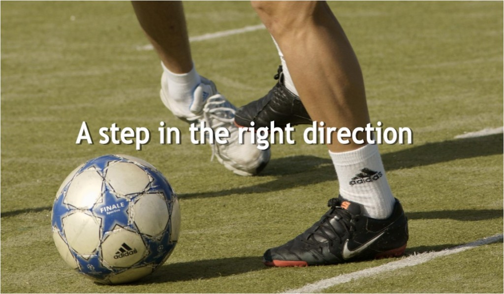 soccer step in right direction
